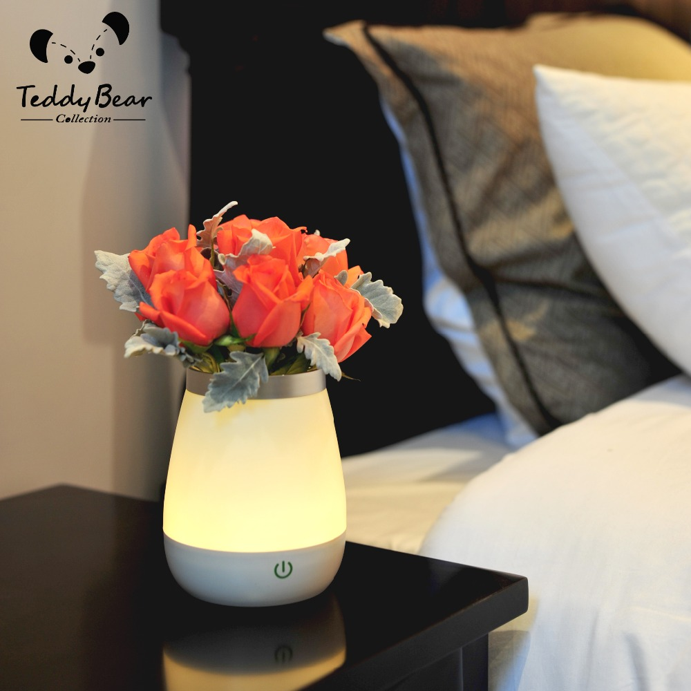 restaurant table top lighting. Novelty Holiday Lighting LED Home Bed Flower Vase Shade Restaurant Table Lamp Portable Night Grow Light Base-in Lights From \u0026 Top U