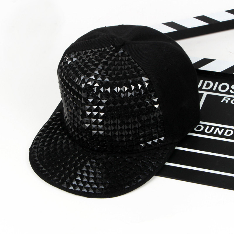 Cool Bigbang Jazz Studded Baseball Hat Hip Hop Gorras Planas Rivet - Аксесоари за облекла - Снимка 4