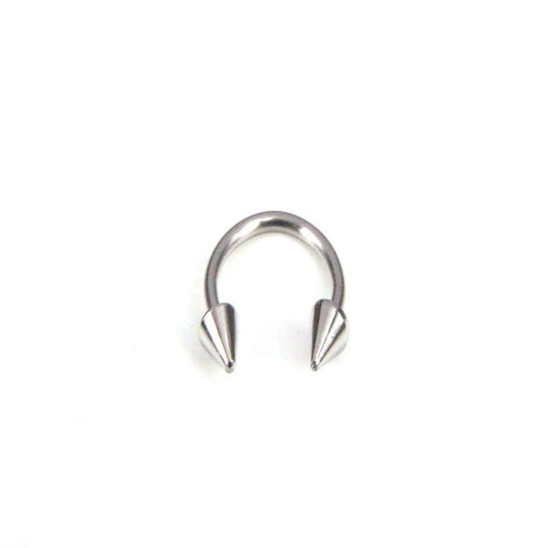 HorseshoeแหวนปลอมจมูกTragusเจาะเหล็กผ่าตัดSeptumหูLip TragusอุตสาหกรรมเจาะNarizเครื่องประดับSieraden