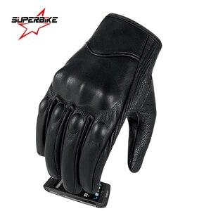 Image 2 - Rękawice motocyklowe skórzany ekran dotykowy mężczyźni oryginalne rękawice rowerowe koziej skóry wyścigi motocyklowe Guantes De rękawice motocyklowe De Motocicleta