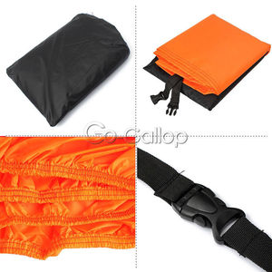 Image 2 - XL Orange/Black Motorcycle Waterproof Motorbike Outdoor Cover Rain Protection Breathable For HARLEY XL FXDF DYNA FAT STREET BOB