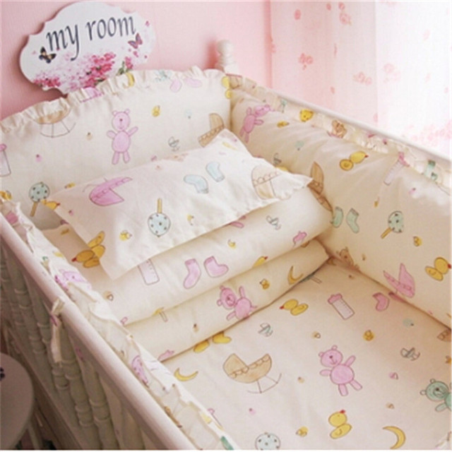 Cot Bedding babies bedding set cotton soft unisex boys girls character baby bedding 100% cotton