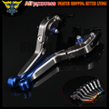 Blue+Titanium CNC Motorcycle Brake Clutch Levers For Yamaha YZF R6 2005 2006 2007 2008 2009 2010 2011 2012 2013 2014 2015 2016