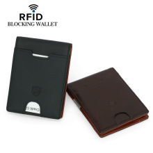 RFID Mens Wallet Leather woman wallet  card holder coin purse purses Buttoned Card Holder