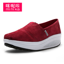MINIKA Brand Nursing Shoes For Women Fitness Shoes Platform Loafer Canvas Espadrilles Tenis Feminine Common Projects GG Flats(China (Mainland))
