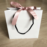 Fashion Pink Ribbon Paper Bag For Bracelet And Necklace Box Set Women Original Pandora Jewelry Bead Charm Outer Packaging
