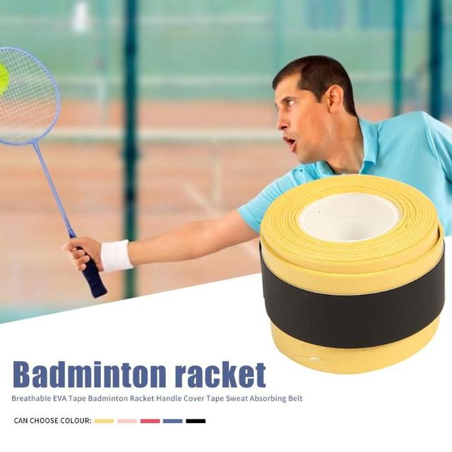 Badminton Racket Tape Anti-skid Hand Glue Sweat Absorbing Belt Tennis Overgrip Grip Padel Keel Hand Sticky Thicken Sweat Belt 3