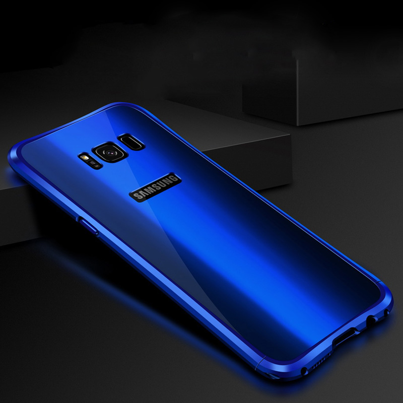 Цена за Для Samsung Galaxy S8 Plus алюминиевый сплав металлический каркас + акрил задняя крышка для Samsung Galaxy S8 случаях