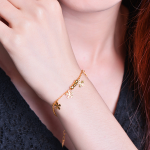 Image 5 - 24K Pure Gold Bracelet Real 999 Solid Gold Bangle Flower O Shape Adjustable Trendy Classic Party Fine Jewelry Hot Sell New 2020