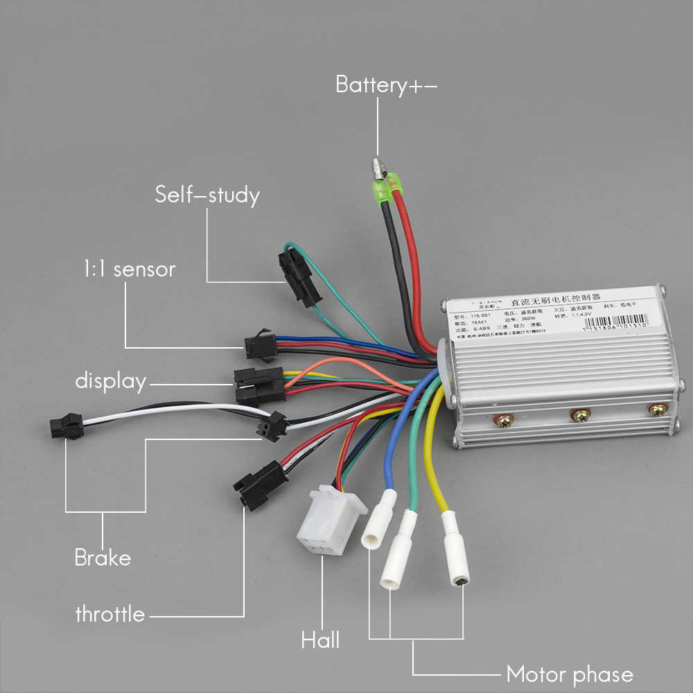24V 250W Motor Controller Steuergerät LCD Panel Set für E-Scooter Elektroroller