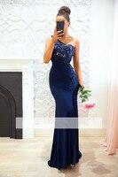 Royal Blue Bridesmaid Dresses One shoulder vestido dama de honor boda Formal Appliqued Mermaid Bridesmaid Gown Plus Size