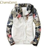 Chamsgend Floral White 2017 Women Jacket Winter Warm Bomber Jacket Women Clothing Coat Sweater Windbreaker 66