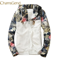 Chamsgend Floral White 2017 Women Jacket Winter Warm Bomber Jacket Women Clothing Coat Sweater Windbreaker 66