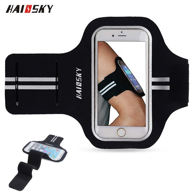 5.0 inch Sports Running Portable Armband On Hand for iPhone Huawei Xiaomi Phone Case Universal Gym Outdoor Holder Arm Band Bag