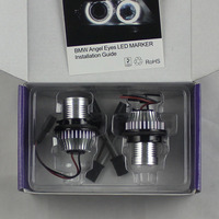 FSYLX 1 SET 10 W 6000 K Ange Yeux Marker LED Lumières Halo Anneaux pour BMW E39 E53 E65 E66 E60 E61 E63 E64 E87 car styling