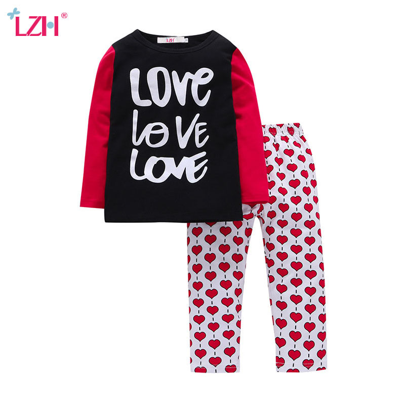 LZH Children Clothes 2017 Autumn Winter Kids Girls Clothes T-shirt+Pant 2pcs Outfits Boys Christmas Suit For Girls Clothing Sets lzh children clothing 2017 autumn winter kids boys clothes t shirt pants 2pcs baby christmas outfits suit for boys clothing sets