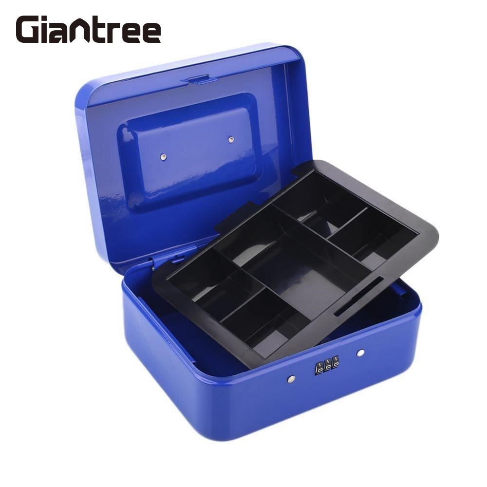giantree Convenient Metal deposit safe password box Portable Storage Cash Security Locking Safe Box Convenient Password Strong