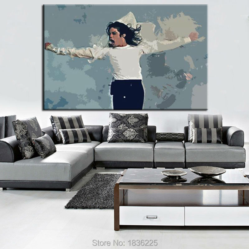 Best Selling Handmade Items Hand Painted Modern House Decoration Products  Michael Jackson Oil Painting Decorative Wall Stencil In Painting U0026  Calligraphy ...