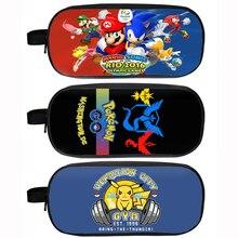 Anime Pokemon Go / Mario / Sonic Pencil Holder Pikachu Children School Case Boys Bag Cartoon Cases Material Escolar Lapices