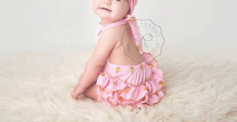 d59e7f321bb7 pink and gold polka girl outfit