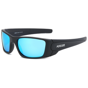 Image 5 - KDEAM 2019 Nuovo Arrivo Degli Uomini di Sport Occhiali Da Sole TR90 Telaio HD Polarizzati lente a specchio Outdoor Occhiali UV400 5 Colori con il caso KD555