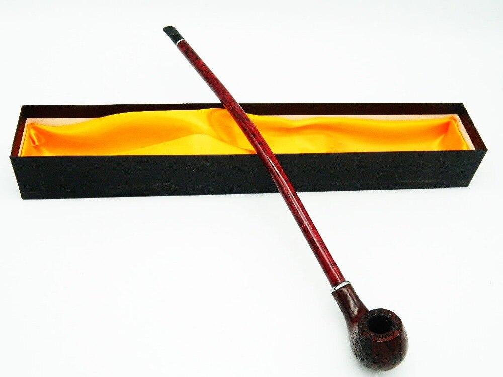 1 Stück 705L Holz Pfeife 410 MM Längste Zigarre Rohre Montage Halter Harz Rohre Shisha Zubehör Geschenk box Tabak holz Rohr