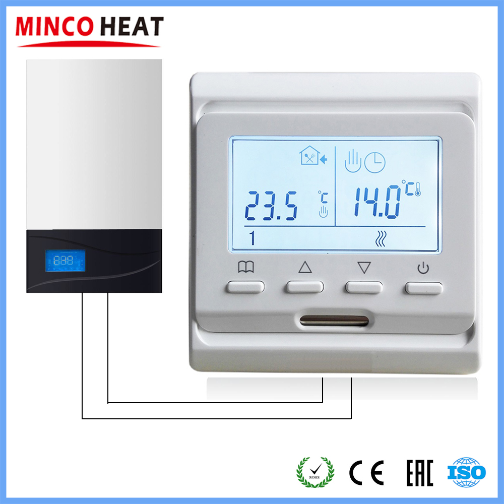 220V LCD Screen Room Thermostat Temperature Controller For Water/Electric Floor Heating Water/Gas Boiler