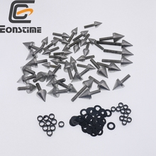 Spike Fairing Bolts Screws Washers Kit For Honda CBR 600 F4i 2001 2002 2003 2004 customize injection molded for honda cbr 600 f4i fairings 01 02 03 black red cbr600 2001 2002 2003 fairing body kit re24