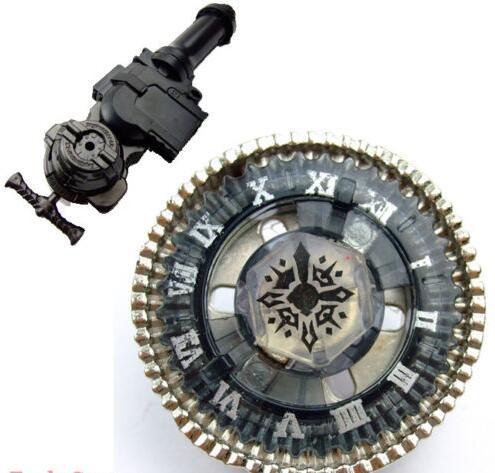 Bayblade brinquedos girando parte superior fusão metal bb104 torcido horgium + grip lr lançador para crianças presente