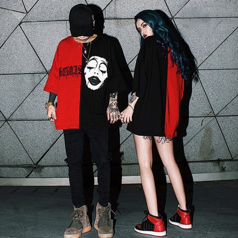 Harajuku Liebhaber T Shirt für Männer Frauen Grim Reaper Druck Punk Rock Mode Graphic T-Shirt Frauen Baumwolle t-shirt Plus Größe