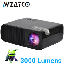 WZATCO Portable LED Projector 3000Lumen Android Wifi Smart Support full hd home cinema TV theater video projecteur 3D LCD beamer
