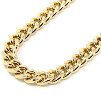 10mm Width 30 Inch Cool Men S Jewelry Necklace Real Gold Plated Heavy Cuban Curb Chain