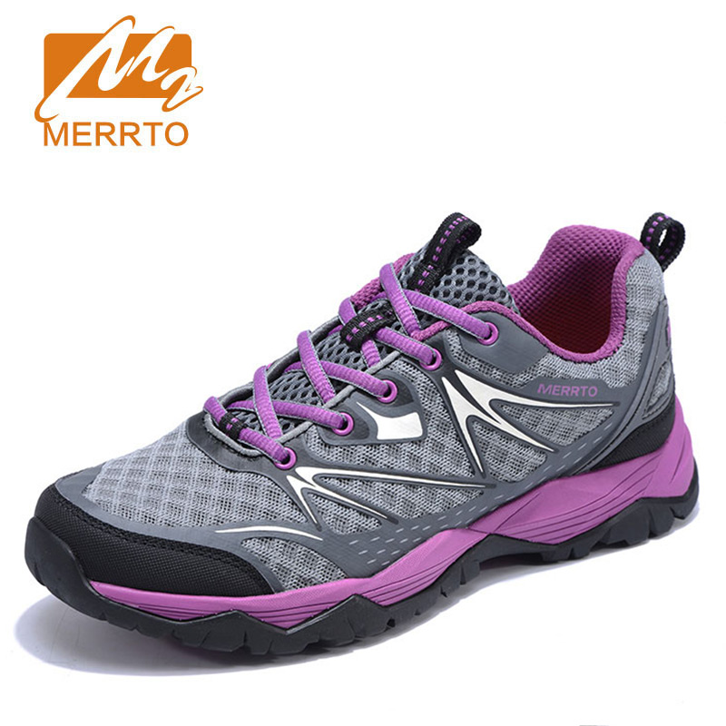 MERRTO Women's hiking shoes Outdoor anti-skid damping Sneakers Breathable Mesh Female Trekking Trail camping climbing shoes peak sport speed eagle v men basketball shoes cushion 3 revolve tech sneakers breathable damping wear athletic boots eur 40 50