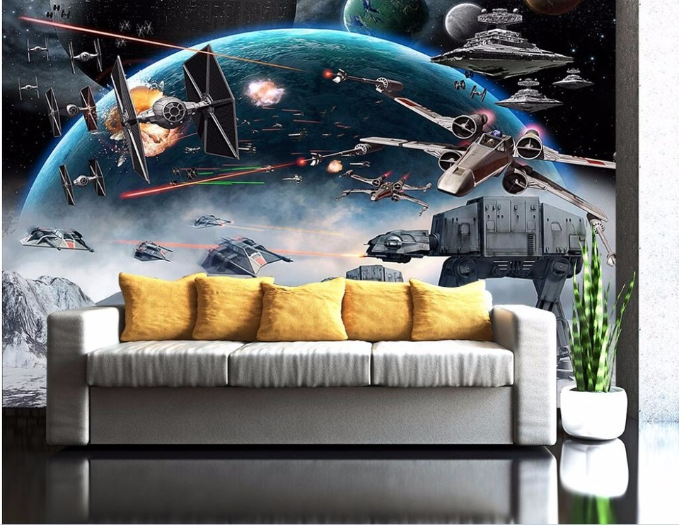 Custom Mural Photo 3d Wallpaper Cartoon Shock Star Wars Picture Room Decoration Painting 3d Wall Murals Wallpaper For Wall 3d Mural Wallpaper For Walls Wallpaper For Walls 3dphoto 3d Wallpaper Aliexpress