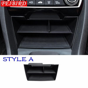 Image 3 - Interior Accessories For Honda Civic Sedan 2016 2017 2018 2019 Central Storage Pallet Container Multi grid Box Cover Kit