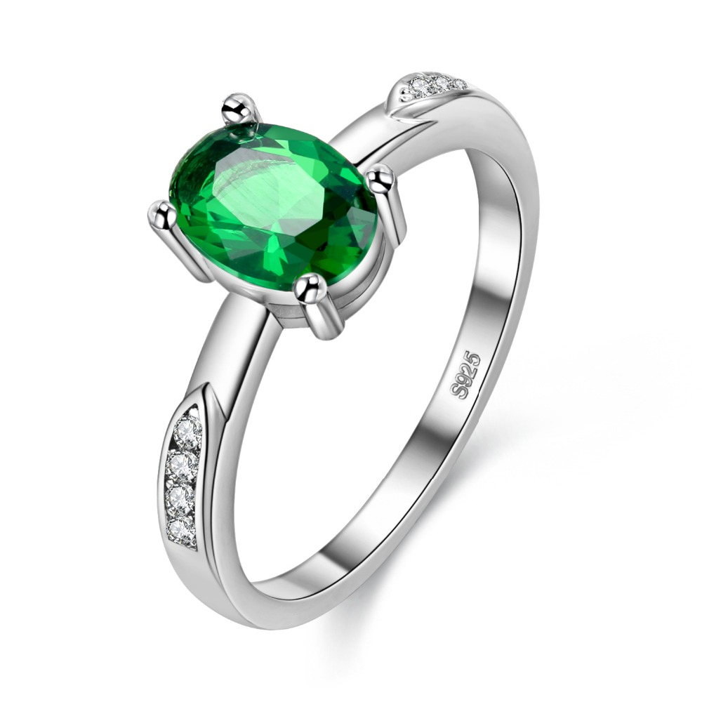 style jewelry ring inspired our deco cut bling emerald color rings silver sterling ag fashion cz view engagement all costume cocktail of art gatsby radiant