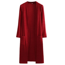 Brieuces 2018 Spring and Autumn Womens Long Knit Loose Sleeve Shawl Cardigan Sweater Jacket