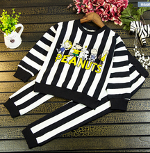 2016 spring new children wear boys and girls recreational sports piece fitted