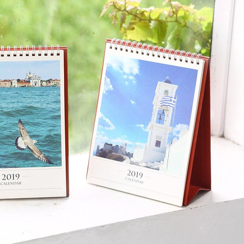2019 Creative Venice Aegean Sea Church Table Desktop Calendar Agenda Organizer Daily Scheduler Planner 2018.06~2019.12 Office & School Supplies Calendars, Planners & Cards