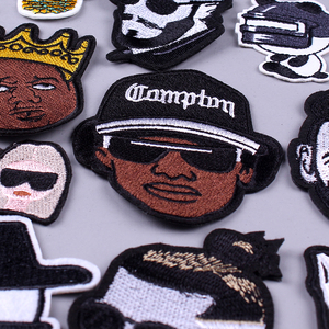 Rock Band Patches DIY Embroidery Metal Patches for Clothing Iron On Patch Hippie Negro Patch Name On Clothes Applique Stripe F(China)