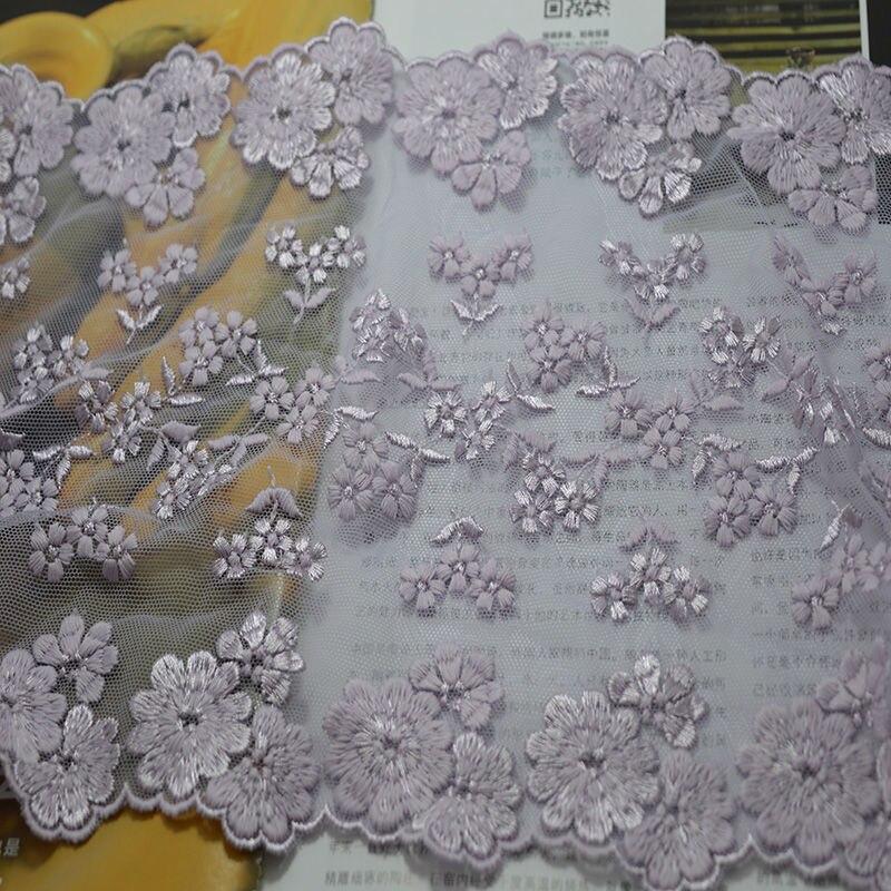 ozdoba 21cm Šířka (2 yardy / lot) fialový tyly a květinové - Umění, řemesla a šití