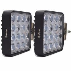 Safego 2pcs led spot light offroad 12v 24V 48W led work lights car truck 4x4 ATV tractor led work light 48w Flood fog lamp