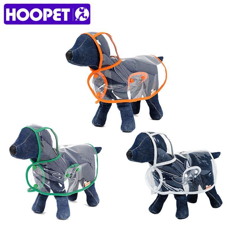 HOOPET perro mascota impermeable ropa para mascotas transparente impermeable luz ropa impermeable pequeño perro con capucha