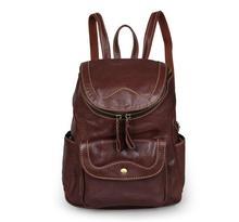 Новое прибытие 2016 женщин сумки Старинные Натуральная Кожа Маленькие женщины Рюкзак моды сумка для Девушки Ежедневно Рюкзак 7303B