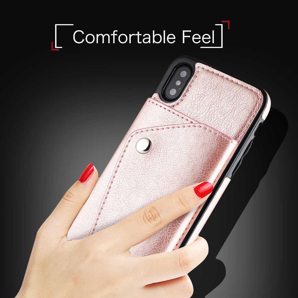 Роскошный кожаный чехол-кошелек для Apple IPhone X XR XS Max 6 s 7 8 Plus 6 S 6 plus 7 plus 8 plus 10 девчачьи чехлы Защитный чехол для телефона