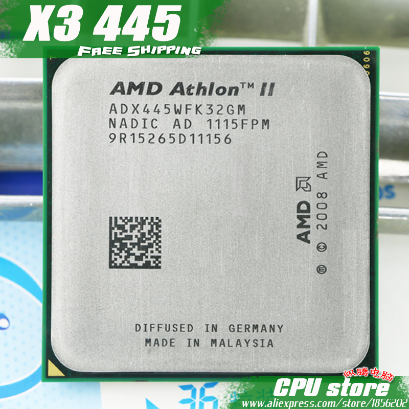AMD Processor-Triple-Core CPU Socket Am3 Am2 Athlon-Ii X3 445 Pin-Sell 440 938 95w/2000ghz