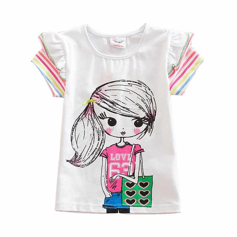 Kids Bloem T-shirt Baby Meisjes T-shirt Bloemen Cartoon Vlinder Tops Zomer Kleding Schattige Kinderen Meisjes Korte Mouw Tees