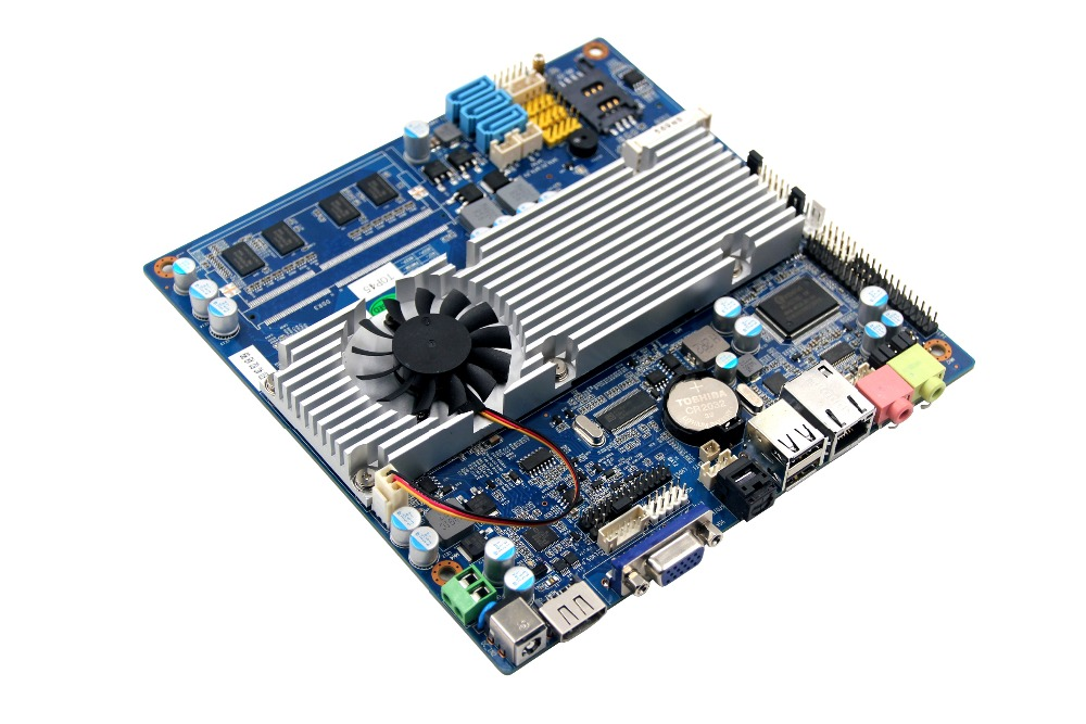 onboard  industry top45  1333MHZ Ram motherboard with intel P8400 cpu ultra thin pc d525 motherboard fanless mini itx motherboard with onboard ddr3 2gb ram