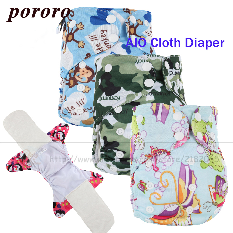 Newborn Baby Diaper Washable Reusable Cover All In One Bamboo Fiber AIO Cloth Nappie Gladbaby Fralda Diaper Cover PUL Waterproof [mumsbest] 3pcs reusable cloth diaper cover washable waterproof baby nappy pul suit 3 15kgs adjustable boy diaper covers