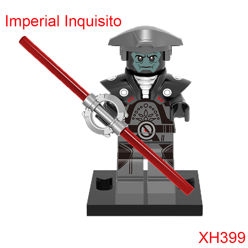 Imperial Inquisito Fifth Brother Red Double-Bladed Spinning Lightsaber 75157 Building Block Single Sale Figure For Kids Xh399